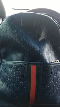 Navy gucci bookbag