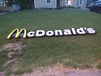 ORIGINAL McDONALD'S OUTDOOR ADVERTISING SIGN. Kansas City, 64117
