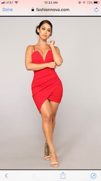 NEW red fashion nova dress  Fairfax, 22030