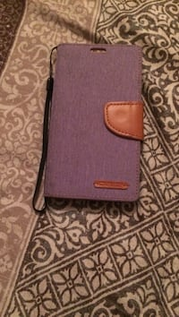 purple leather k 7 phone case