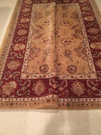 red and brown floral area rug Fairfax, 22033