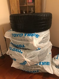 Selling Toyo winter tires Size 20R50/265. Good for two more seasons.i had them in my Jeep grand but I sold the car.
