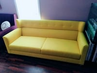 yellow fabric 2-seat sofa