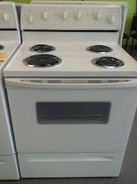 white Whirlpool electric coil range oven Clayton, 27520