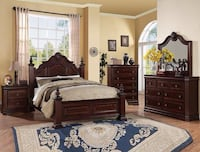 Charlotte Dark Cherry Panel Bedroom Set | B8300 Houston, 77036