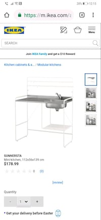 Ikea outdoor kitchen table and sink Toronto, M4L 1A4