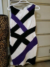 White dress with black and purple design King City, L7B 1C9