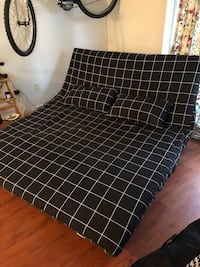 black and white plaid fabric sofa Vancouver, V5L 1W7