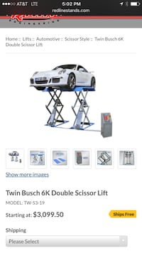 Twin Busch Scissor lift Woodridge, 60517