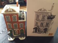 white and brown ceramic building scale model with box Fountain Hill, 18015