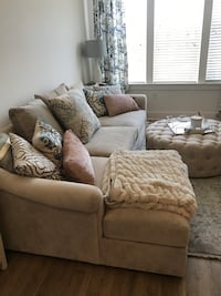 Light Gray Sectional with pillows Charlotte, 28203