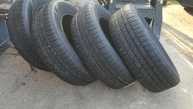 New set Goodyear tires.