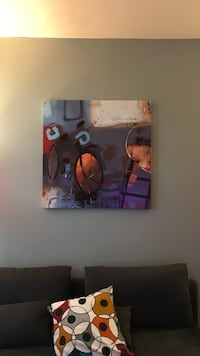 black and brown abstract painting Denver, 80202