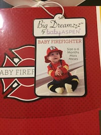 Baby Firefighter Costume 0-6 months Rancho Cordova, 95827
