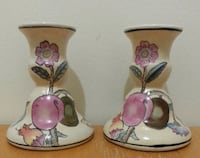 Pair Of Porcelain Hand Painted Candle Holders  Mississauga, L5N 2X2