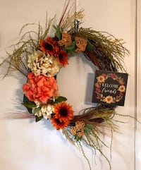 Fall wreath with sign Greer, 29651