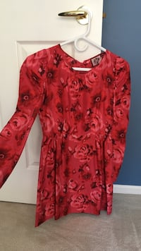 Juicy couture tea party red silk dress now cute Richmond