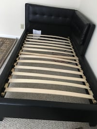 black and white wooden bed frame Burke, 22015