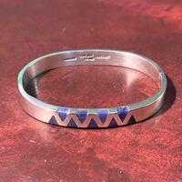 Vintage Sterling Silver Lapis Lazuli Bangle Bracelet Ashburn, 20147