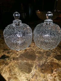 clear cut glass decanter with lid Houston, 77045