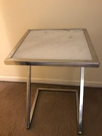 """New side table marble top 21""""tall 14"""" square click on my profile picture on this page to check out my other listings message me if you interested pick up in Gaithersburg Maryland 20877 Gaithersburg, 20877"""