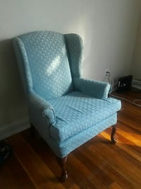 Blue Antique Wing Chair
