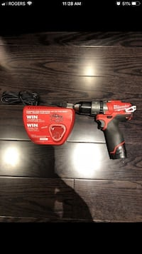 red and black Milwaukee cordless drill Toronto, M6A 1K4