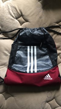 black and red Adidas leather drawstring backpack Snyder, 16686