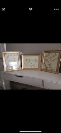 Three 8.5x11 Gold Frames Scottsdale, 85260