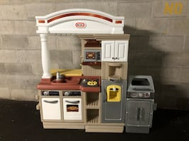 little tikes kitchen playset with barbecue