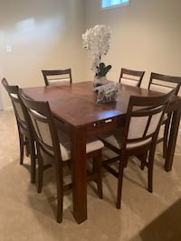 rectangular brown wooden table with four chairs dining set Temple Hills, 20748