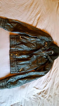 black and brown leather jacket Canmore