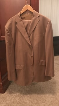brown formal suit jacket