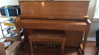 Nice Baldwin piano. Needs tuned and 1 key needs fixed. The inside bottom of the bench needs tacked up. Beautiful sound. Open to offers. Columbus, 43207
