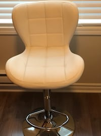 quilted whit leather padded hydraulic bar seat