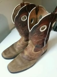 pair of brown leather cowboy boots College Station, 77840