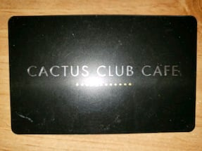 Cactus Club Gift Card for sale