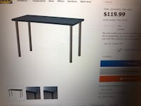Like new geometric table with white kegs.