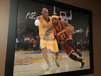 LeBron and Kobe picture in a frame  Mission