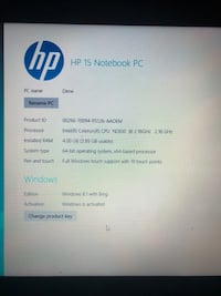 HP touch screen laptop! Comes with original charger, and lap top case! 42 km
