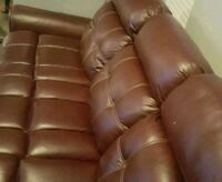 Leather Burgundy Sofa Crofton