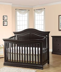 baby's brown wooden crib Fort Lauderdale, 33308