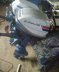 blue and white Evinrude outboard motor Dardanelle, 72834