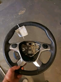 Leather steering wheel  fors transit-250