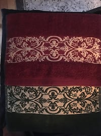 2-Christmas Red-gold-green-gold Table mats