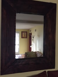 Large Oak Framed Mirror GLENDORA