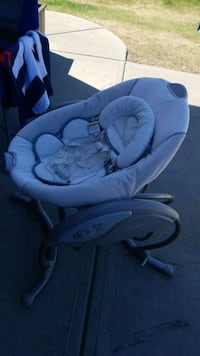 baby's gray and white bouncer Edmonton, T6T 0C9
