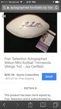 Great valentines gift-Autographed football
