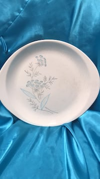 round white and blue ceramic plate Purvis