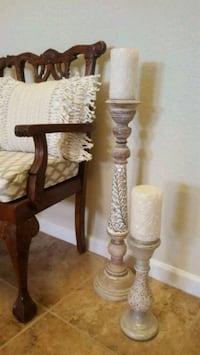 Pier 1 large candle holders  Rio Rancho